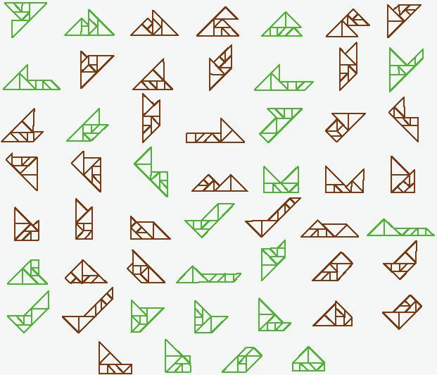 几何七巧板拼贴画