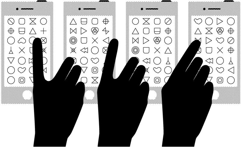 """图2 """"智能手机""""时代的交互"""