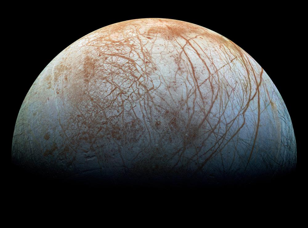 木卫二冰壳显示出惊人的纹路